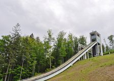 Skisprung in Wisla Lizenzfreies Stockbild