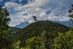 Skisprungschnaze Bergisel Stockbild