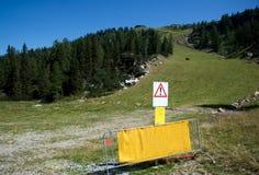 Skispur am Sommer Lizenzfreie Stockfotos