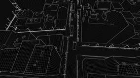Skissa abstrakt arkitektonisk bakgrund för staden lager videofilmer
