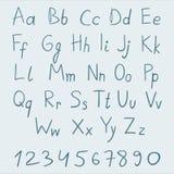 Skissa alfabetet Arkivbilder