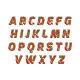Skissa alfabetet - olika färgbokstäver göras som en klottra Vektorbegreppssamlingen av färgrikt skissar stilsorter som isoleras p royaltyfri illustrationer