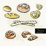 Skissa av bageri Arkivfoton