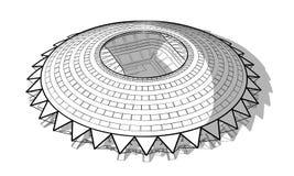 Skissa av den nya stadion i Samara stock illustrationer