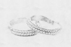 Skissa av Diamond Earrings arkivfoto
