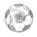 Skissa av en fotbollboll royaltyfri illustrationer