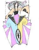 Skissa av klänninginfallet Royaltyfri Bild