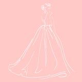 Skissa av kvinnans diagram på rosa bakgrund Arkivfoton