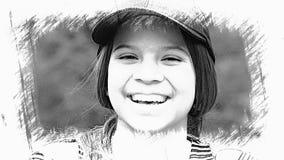 Skissa av tonårig flicka Royaltyfri Bild