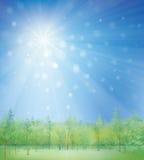 Skissa bakgrund med utomhus Arkivfoton