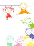 Skissa barn Arkivbild