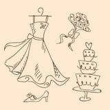 skissa bröllop Royaltyfri Bild