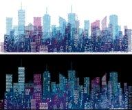 Skissa cityscape Fotografering för Bildbyråer