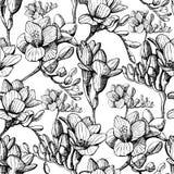Skissa den sömlösa blomman Arkivbilder
