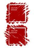 Skissa designmallen med fyrkantig borstebakgrund f?r tryckdesign stock illustrationer