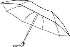 Skissa det öppna paraplyet Royaltyfri Fotografi