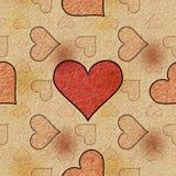 Skissa förälskelse (Seamless textur) Royaltyfri Fotografi