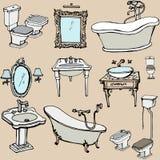 Skissa för badrummet 1 Royaltyfri Foto