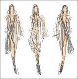 Skissa mode - kvinnor Arkivbild