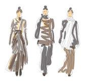 Skissa mode poserar Arkivbild