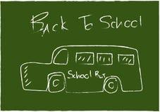 Skissa skolbussen Arkivfoto