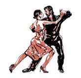 Skissade dansare Royaltyfri Bild