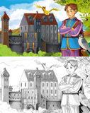 Skissafärgläggningsidan - saga för konstnärlig stil Royaltyfri Bild