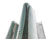Skissar den arkitektoniska teckningen för kontorsbyggnad Royaltyfri Fotografi