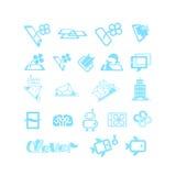 Skissar för logoer eller symboler Arkivbild
