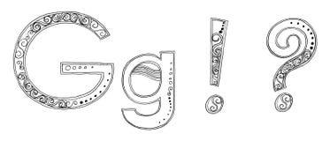 Skissar frihandsblyertspennan för G Vandan stilsorten Arkivbild