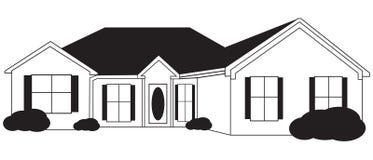 skissar level enkla för hus royaltyfri illustrationer