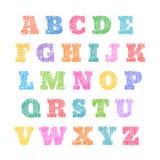Skissat alfabet, stiliserade bokstäver, kläckt stilsort Royaltyfri Illustrationer