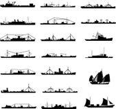 skissera shipen stock illustrationer