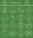 Skisserad ferier och samling för resorsymbolsuppsättning vektor illustrationer