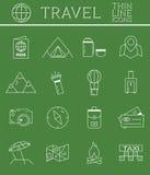 Skisserad ferier och samling för resorsymbolsuppsättning stock illustrationer
