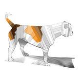 Skisserad gullig bulldogg vektor illustrationer