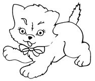 skisserad kattpott Royaltyfri Bild