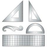 skissningmetallhjälpmedel royaltyfri illustrationer