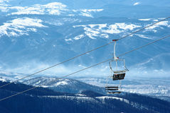 Skistühle Lizenzfreie Stockfotos