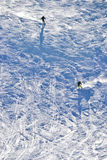 Skisteigung Stockbild