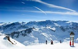 Skisteigung Stockfoto