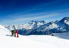 Skisteigung Stockfotos