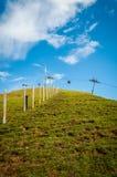 Skisteigung im Sommer Lizenzfreie Stockfotografie