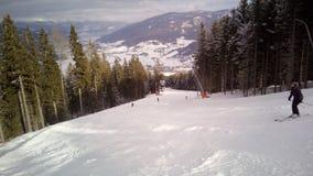 Skisteigung A1, Katcshberg Aineck, Österreich Lizenzfreies Stockfoto