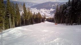 Skisteigung A1, Katcshberg Aineck, Österreich Lizenzfreie Stockfotografie