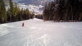 Skisteigung A1, Katcshberg Aineck, Österreich Lizenzfreies Stockbild
