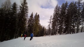 Skisteigung A1, Katcshberg Aineck, Österreich Stockfotos