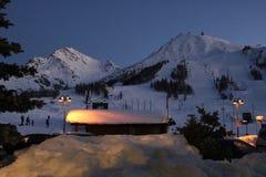 Skisteigung in Sestriere, Turin, Piemont, Italien Stockfotos