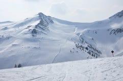 Skisteigungen in Tirol Lizenzfreies Stockbild