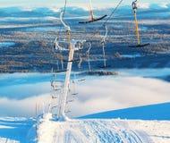 Skitoevlucht Stock Fotografie